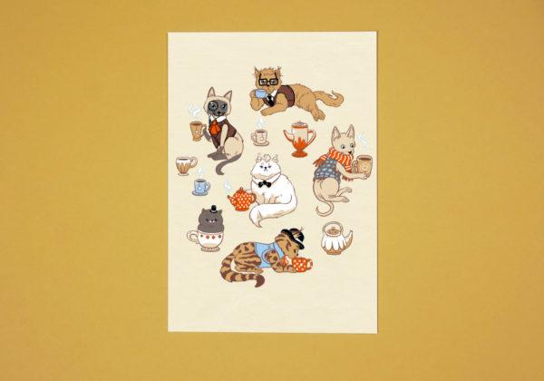 teacats-postcard