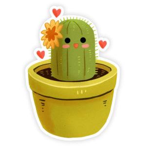 Josephine the Cactus Sticker