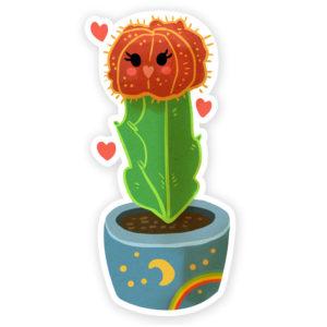 Moon Cactus Sticker