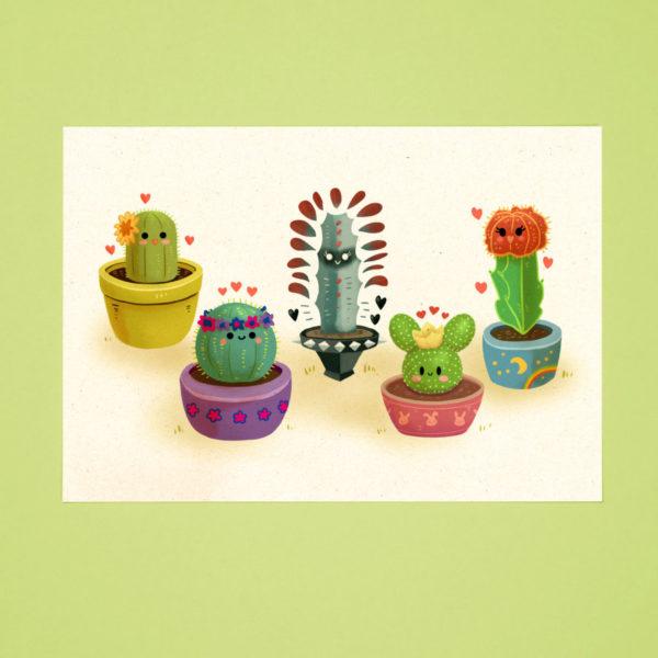 Succulent Squad postcard
