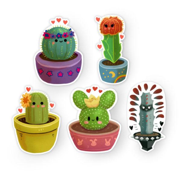 Succulent Squad sticker set