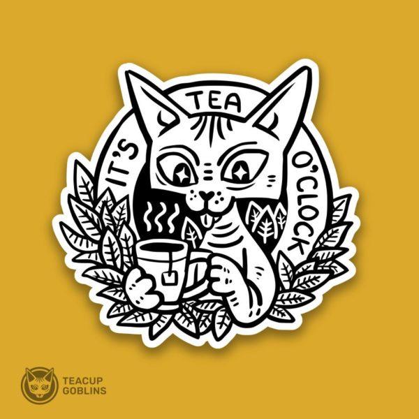 It's tea o'clock sticker