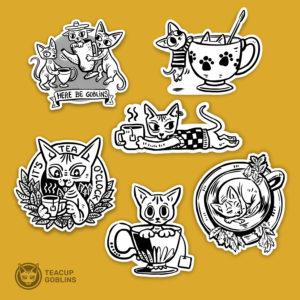 Teacup Goblins sticker set