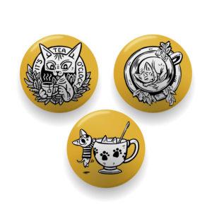 Teacup Goblins badge set