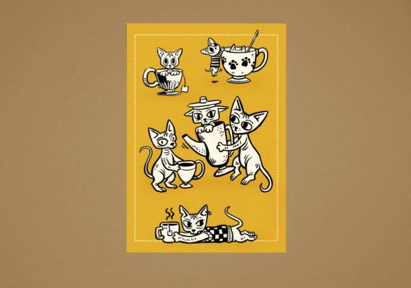 Teacup Goblins postcard
