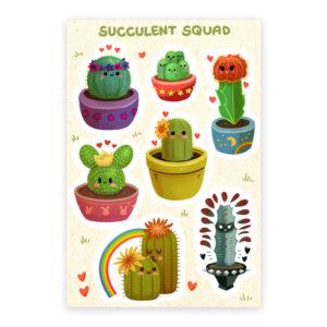 Succulent Squad Sticke Sheet