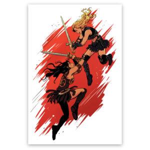 Xena vs Callisto art print