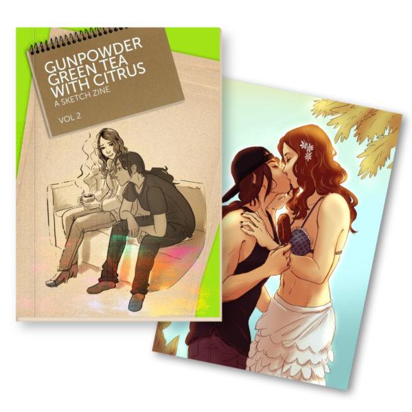Sketch Zine and Art Print combo