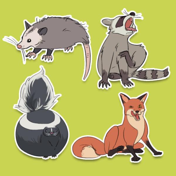 Forbidden Cats sticker set